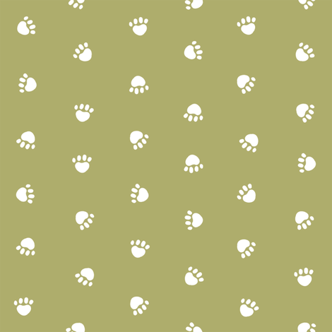 Pet Quilt D - Dog paw coordinate - lime fabric by petfriendly on Spoonflower - custom fabric
