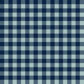 Pet Quilt B - Buffalo check - navy and blue coordinate