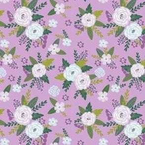 Pet Quilt C - Floral coordinate - lilac