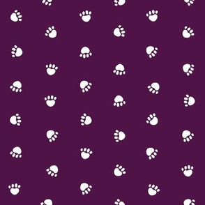 Pet Quilt C - Dog paws fabric - purple