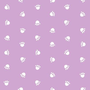 Pet Quilt C - Dog paws fabric - lilac