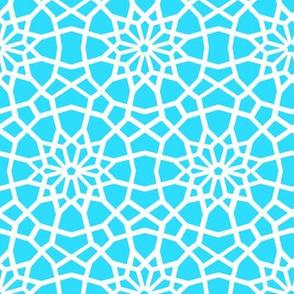 Turquoise Moroccan Mandala // Palace //  Marrakesh star flower //