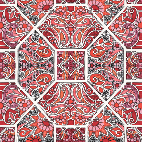 Squirmy in Red fabric by edsel2084 on Spoonflower - custom fabric