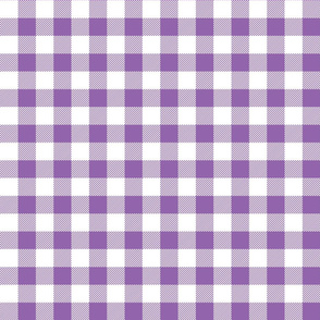 buffalo plaid 1in amethyst and white