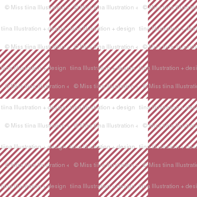 buffalo plaid 1in berry and white
