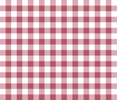 buffalo plaid 1in berry and white fabric by misstiina on Spoonflower - custom fabric