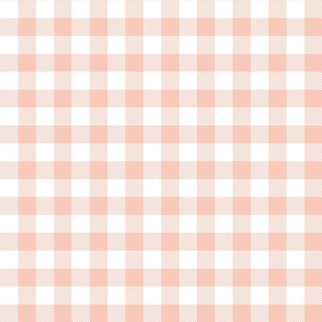 buffalo plaid 1in blush and white