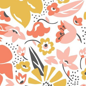 Betty - Floral Pink Blush Large Scale