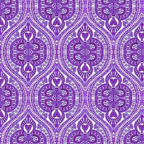 Marrakesh lilac Ultraviolet ogee // violet, purple, blue moroccan.