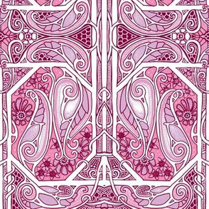 On Pink Paisley Wings