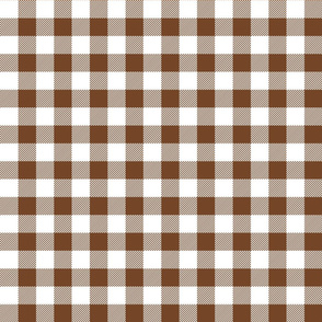buffalo plaid 1in chocolate brown and white