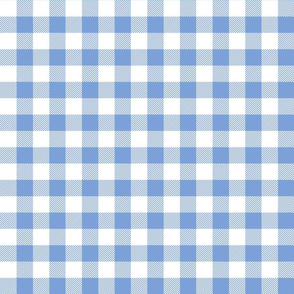 buffalo plaid 1in cornflower blue and white
