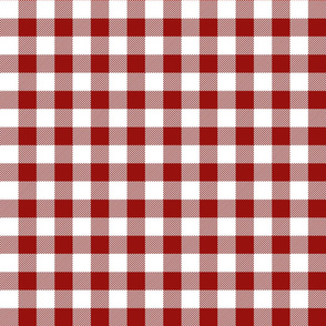 buffalo plaid 1in dark red and white