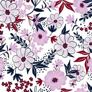 Harper Floral - Spoonflower Limited Color Palette Challenge