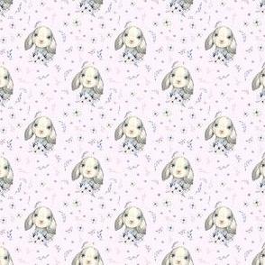 "2"" Lilac Bunny - Blush Pink"