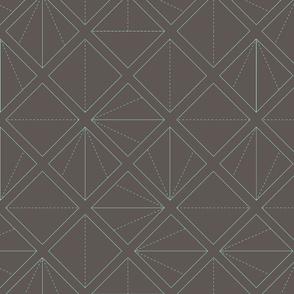 Folding Lines Aqua