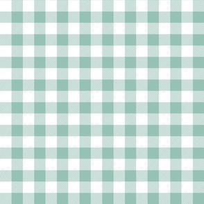 buffalo plaid 1in faded teal and white