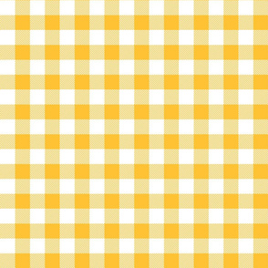 buffalo plaid 1in golden yellow and white