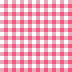 buffalo plaid 1in hot pink and white