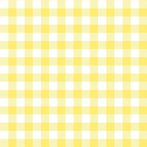 buffalo plaid 1in lemon yellow and white