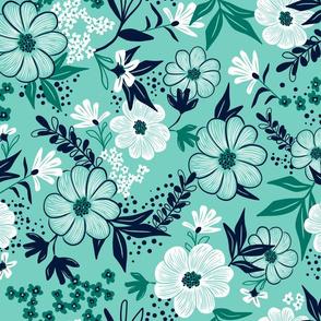 Harper Floral - Modern Mint