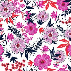 Harper Floral - Pink Punch