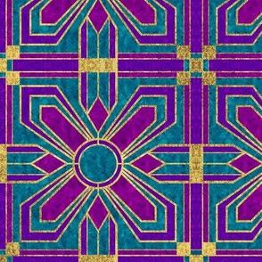 art deco floral tiles mardi gras