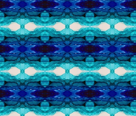 Blue Kaleidoscope Variation 2 fabric by designbysarah on Spoonflower - custom fabric