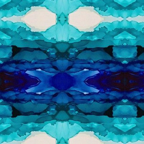 Blue Kaleidoscope Variation 2