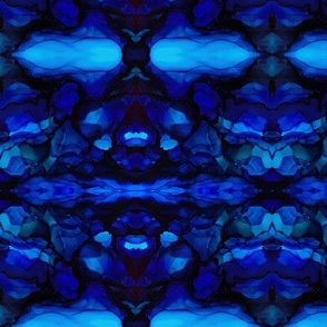 Ocean Blue Kaleidoscope Variation 2