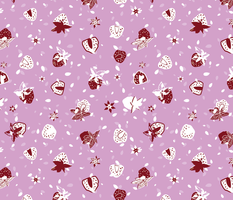Strawberry & Mint fabric by agnieszka_rycombel on Spoonflower - custom fabric