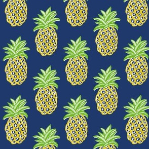 pineapples on navy