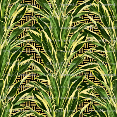 Palm on Stitch Black Gold