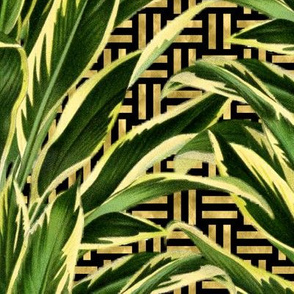 Palm on Stitch Black Gold