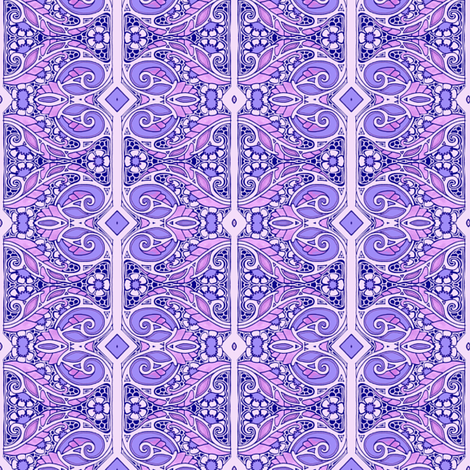 With a Swish of Lavender fabric by edsel2084 on Spoonflower - custom fabric