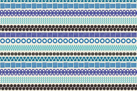 Blockprint Stripe Pattern fabric by kristin_nicholas on Spoonflower - custom fabric