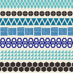 Blockprint Stripe Pattern