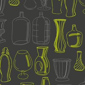 Vases- Dk Grey