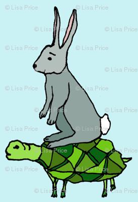 turtle on rabbit