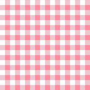 buffalo plaid 1in pretty pink and white