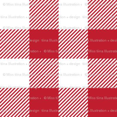 buffalo plaid 1in red and white