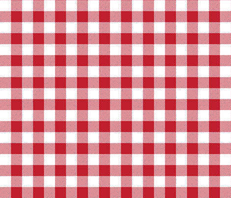 buffalo plaid 1in red and white fabric by misstiina on Spoonflower - custom fabric