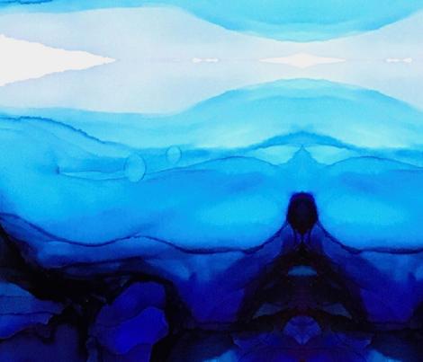 Ocean Blue Kaleidoscope fabric by designbysarah on Spoonflower - custom fabric