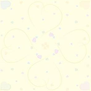Corazones raton amarillo