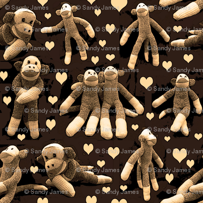 monkey love sepia