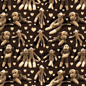 monkey love sepia