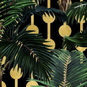Palms on Beads Black Gold