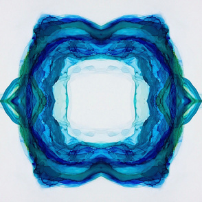 blue ink circle