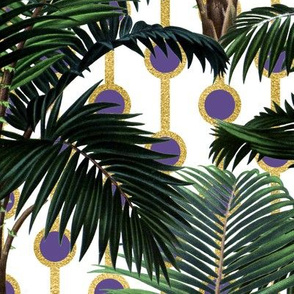 Palms on Beads White Gold Purple