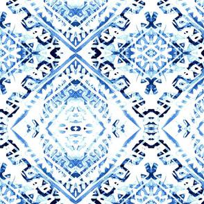 aztec blues aqua seamlees